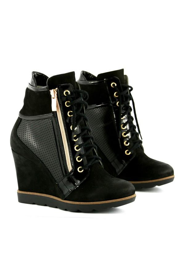 Czarne sneakersy Kerri