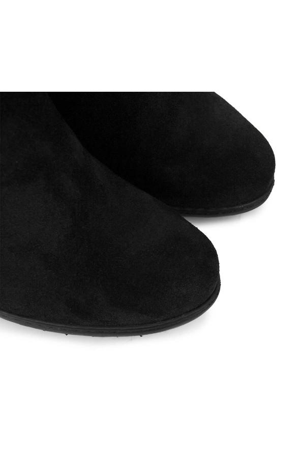 Czarne zamszowe kozaki Salina