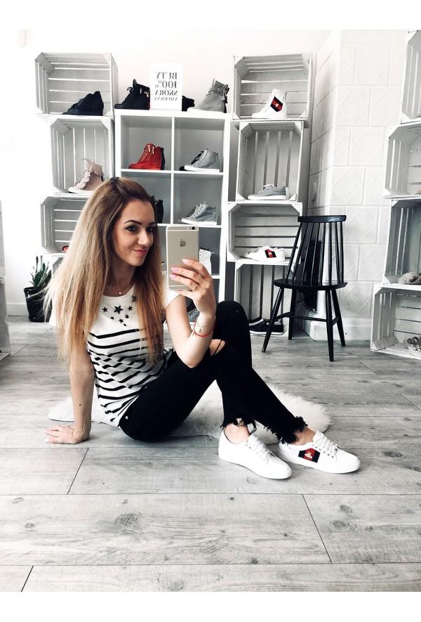 Białe trampki Oxana
