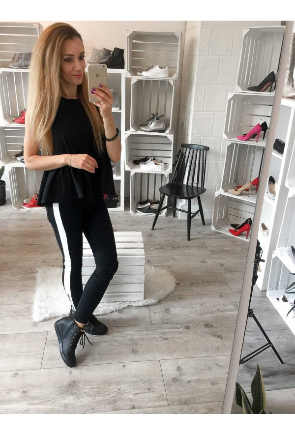Czarne sneakersy Maia