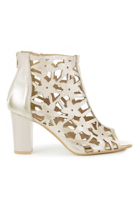 Złote sandały na słupku Lorinda