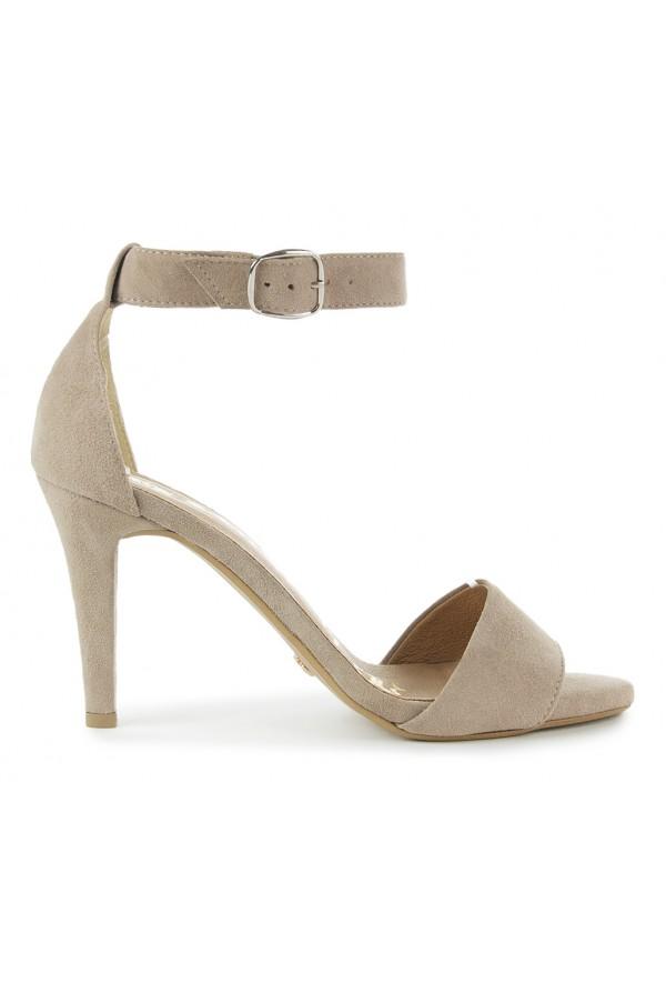 Zamszowe sandały Paris nude