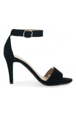 Czarne zamszowe sandały Paris