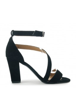 Czarne zamszowe sandały Virginia
