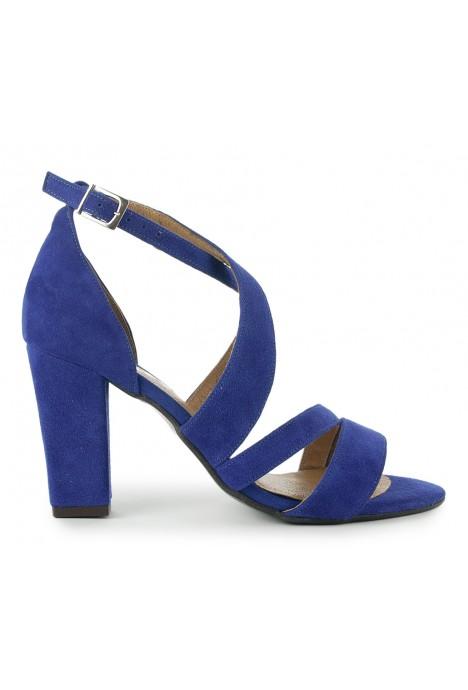 Szafirowe zamszowe sandały Elaina