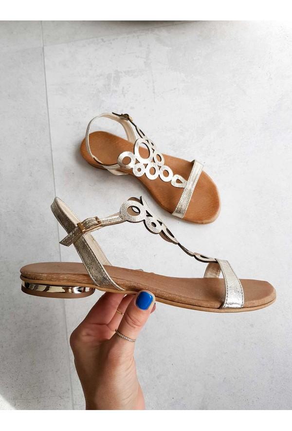 Złote sandały Marsha