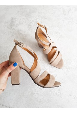 Zamszowe sandały Elaina nude