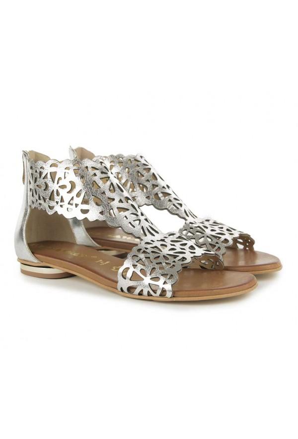 Srebrne ażurowe sandały Nadine