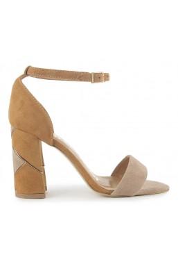 Zamszowe sandały Alessia camel