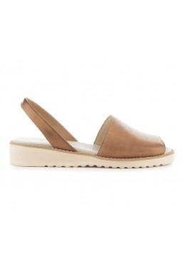 Lekkie skórzane brązowe sandały
