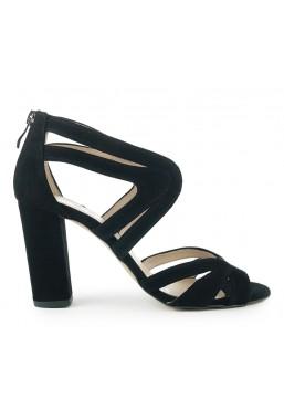 Czarne zamszowe sandały Amara