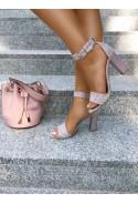 Sandały na słupku Carmela rosa
