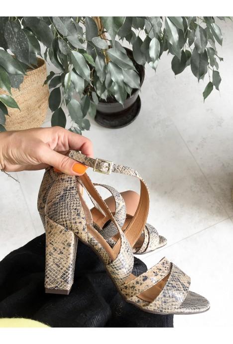 Wężowe sandały Elaina