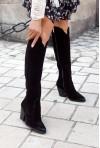 Czarne zamszowe kozaki Alissa