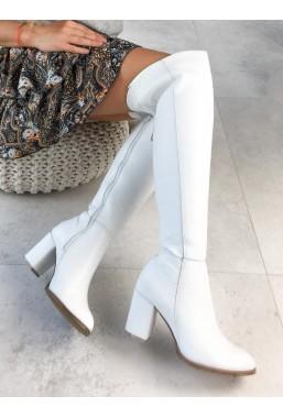Białe kozaki Marina