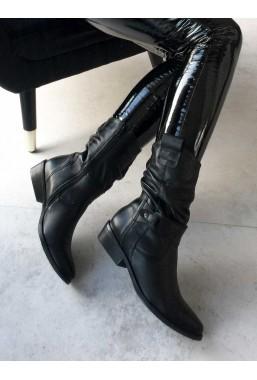 Czarne botki Leona