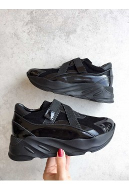 Czarne botki Unice