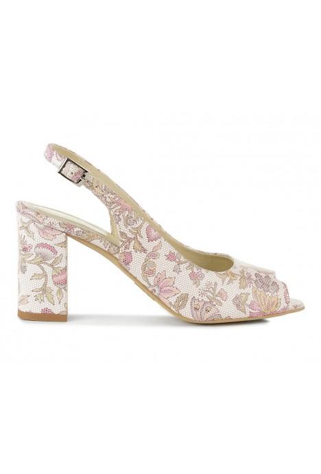 Sandały Gertie kwiaty rosa