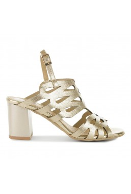Złote sandały Justine
