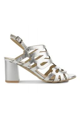 Srebrne sandały Justine