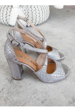 Srebrne sandały Alexie