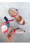 Multikolorowe sandały Eufemme