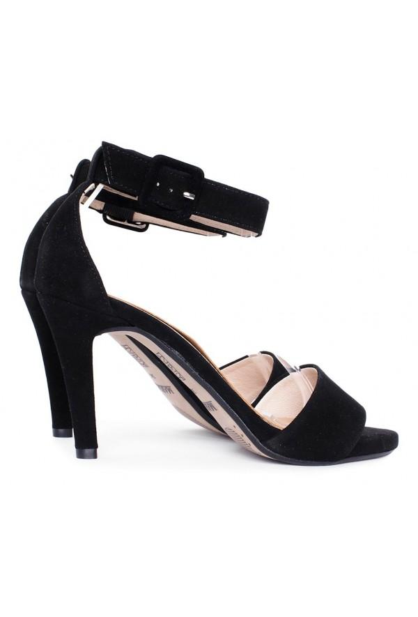 Czarne zamszowe sandały Shelbie
