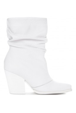 Białe botki Ines