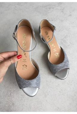 Szare sandały Missy