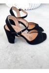 Czarne zamszowe sandały Eufemme