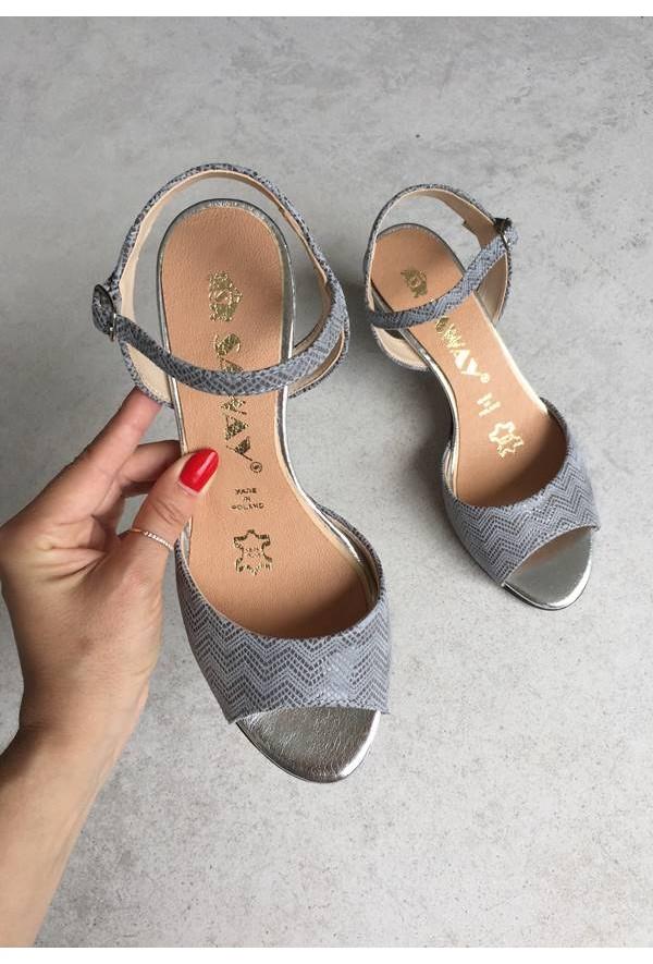 Szare sandały Milleni