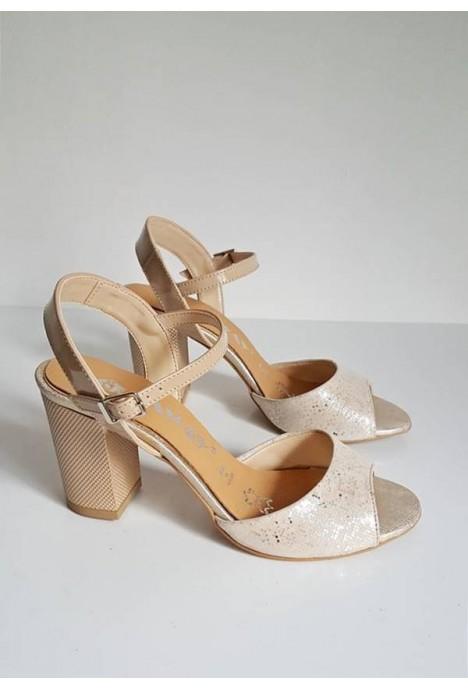 Beżowe sandały Mirel piksele