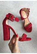 Czerwone sandały Felicianna
