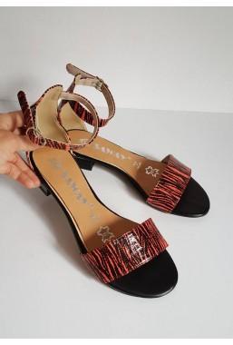 Sandały Suzanne zebra