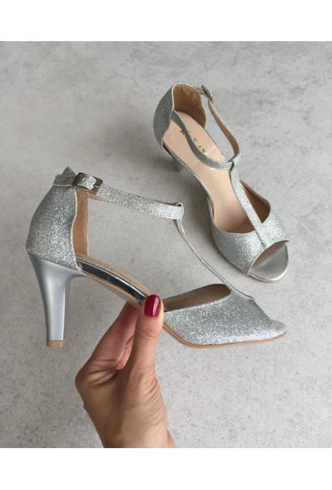 Srebrne sandały Lettina