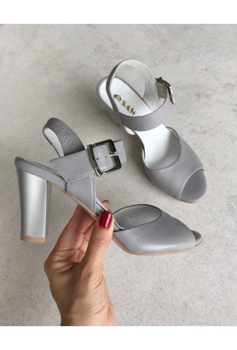 Szare sandały Malwii