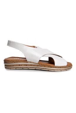 Białe sandały Evie