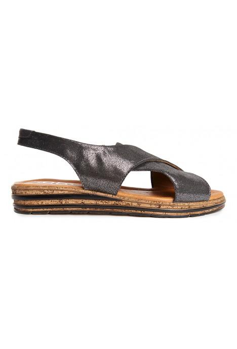 Czarne sandały Evie