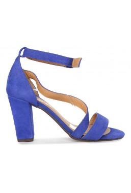 Zamszowe sandały Virginia szafir