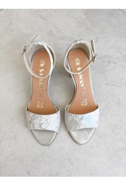 Srebrne sandały Missty