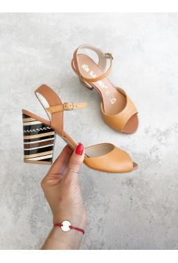 Brązowe sandały Glenda