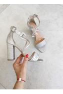 Srebrne sandały Nisha