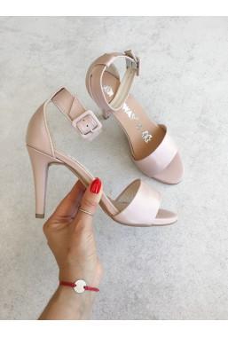 Sandały Oriana pudrowy róż