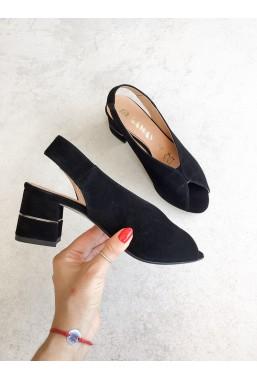 Czarne zamszowe sandały Rahima2