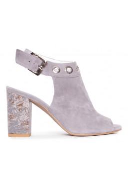 Szare zamszowe sandały Lilli