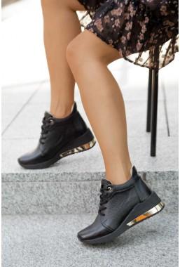 Czarne sneakersy Moshe