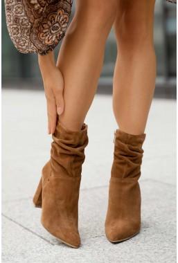 Zamszowe botki Tiana camel
