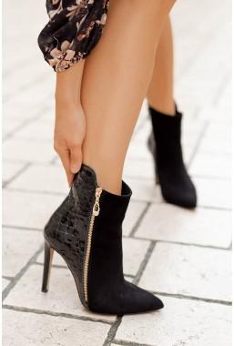 Czarne botki na szpilce Charlize