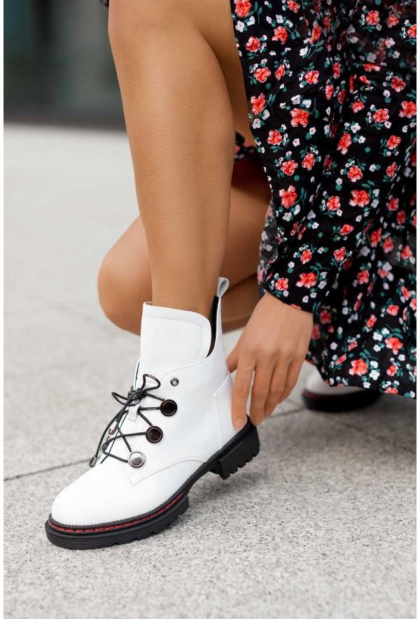 Białe botki Perra