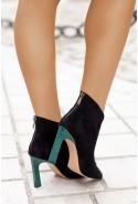 Czarne zamszowe botki Leighton verde